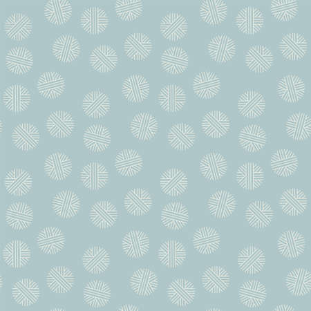Abstract vintage color geometric simple snowflakes seamless pattern for background, fabric, textile, wrap, surface, web and print design. Textile vector tile rapport with winter snow.