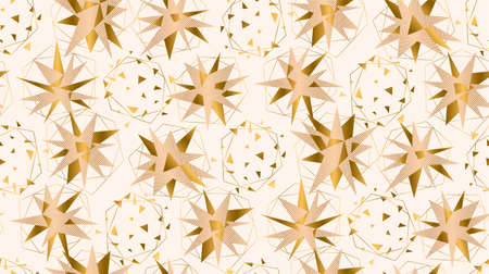 Christmas tender elegant pale rosy and gold stars seamless pattern for background, fabric, textile, wrap, surface, web and print design. Geometric business style minimal xmas composition in pastel colors. Textile vector tile rapport.