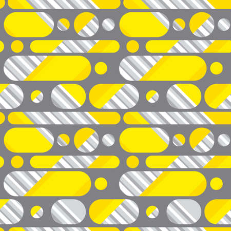 Abstract geometric seamless pattern in yellow and gray 2021colors for background, fabric, textile, wrap, surface, web and print design. Textile vector tile rapport