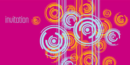 Vivid pink and blue geometric composition for for card, header, invitation, poster, social media, post publication. Modern abstract festive header. Vector illustration clipart.