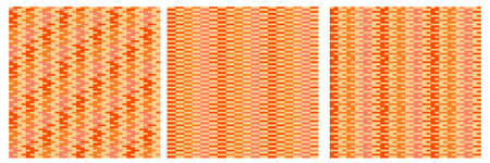 Orange hippie style vintage stripe seamless pattern for background, fabric, textile, wrap, surface, web and print design. Geometric color vector rapport set.