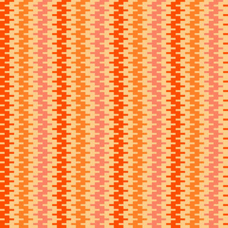 Orange 70s vintage zigzag stripes seamless pattern for fabric, textile, wrap, surface, web and print design. Geometric weaved pattern. vector background.