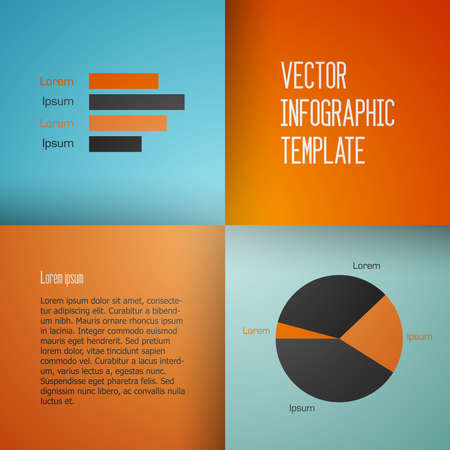 moder: Clean moder vector infographic background template with charts Illustration