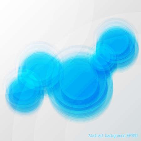 Blaue Vektor abstrakte Unschärfe Glas-Hintergrund