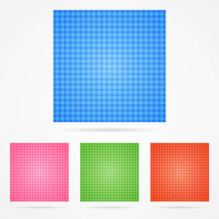 Set of color vector checked background patterns Illustration