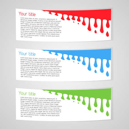 Vector color web elements with abstract background  Vector