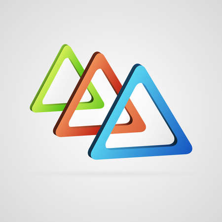 bue: Vector abstract background created with color 3d triangles Illustration