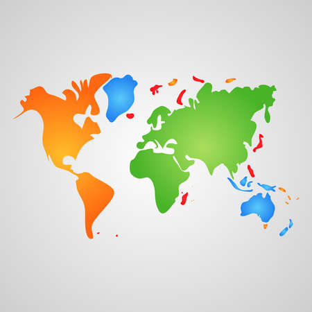 Vector world map like paint spots Stock Vector - 24053467