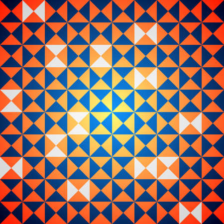 pave: Orange and blue abstract retro background  Illustration