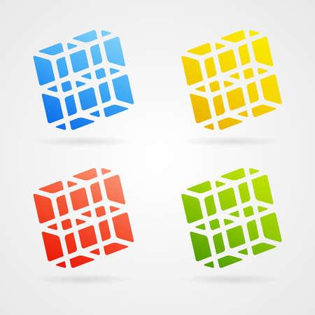 Set of clean vector color 3d elements