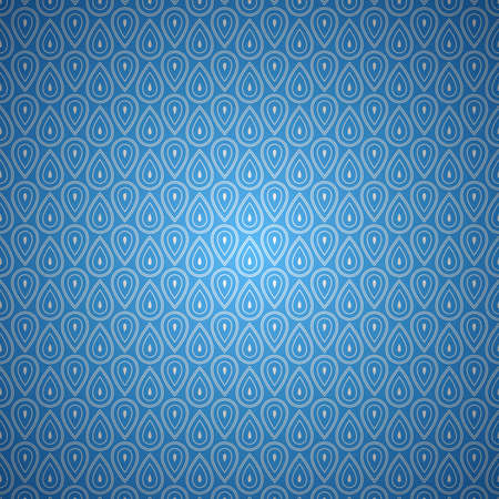 Blue seamless abstract vector vintage background pattern