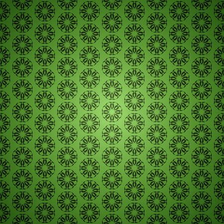 Green clean vector abstract ornament seamless vintage background pattern