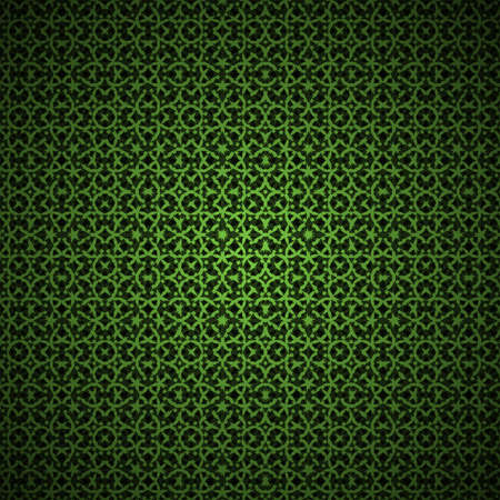 Green vector ornament abstract background pattern  Illustration