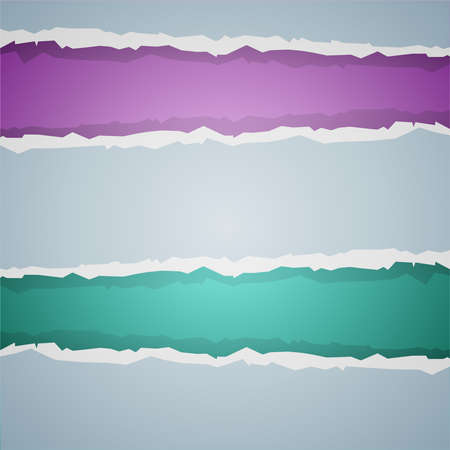 Violet and turquoise paper simple tear vector background Illustration