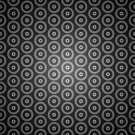 Black and white seamless abstract vector circle background pattern