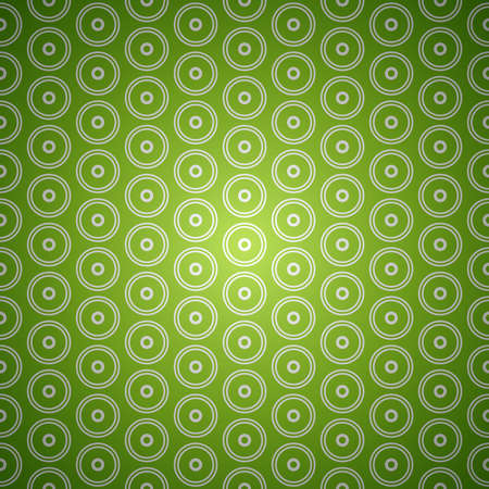 Green seamless abstract vector circle background pattern Иллюстрация