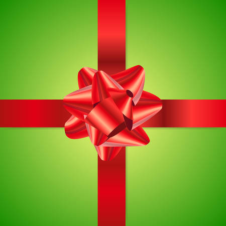 Clean vector red and green gift background