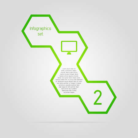 Green clean vector infographic element Illustration