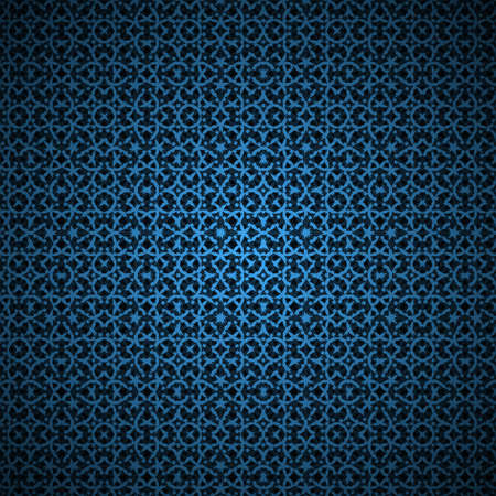 Blue vector ornament abstract background pattern  Illustration