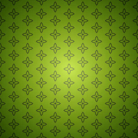 Green seamless abstract vector vintage background pattern Vector