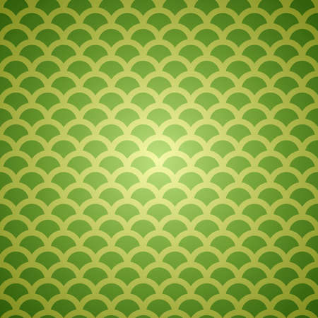 Green vector abstract seamless scale background pattern