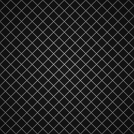 Black and white clean vector stitch diagonal background pattern Illustration