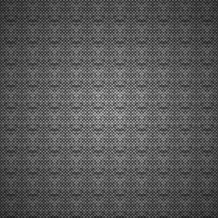 黑色和白色矢量碳或布的背景圖案紋理 向量圖像