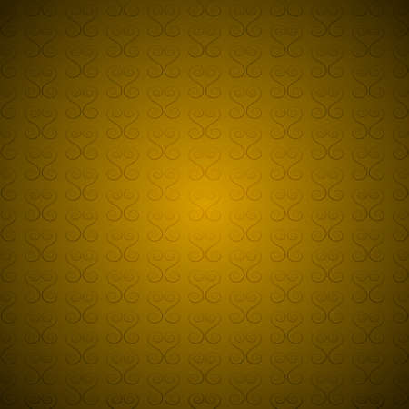 Gold vector abstract retro curly vintage background pattern