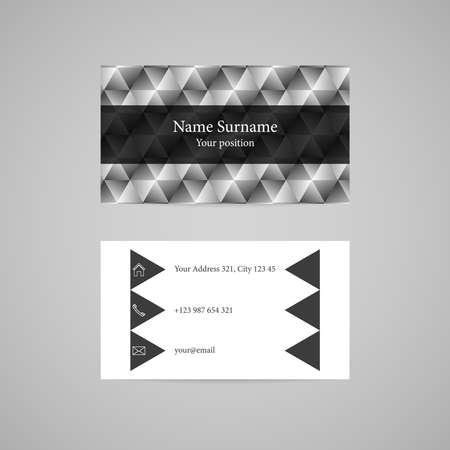 Clean light diamond vector business card template Stock Vector - 24102638