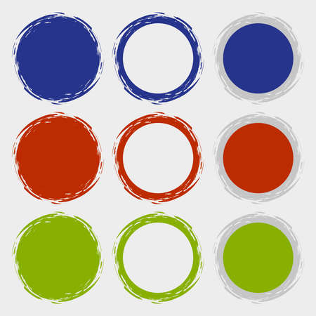 Clean vector color set of brush smudges Stock Vector - 24102639