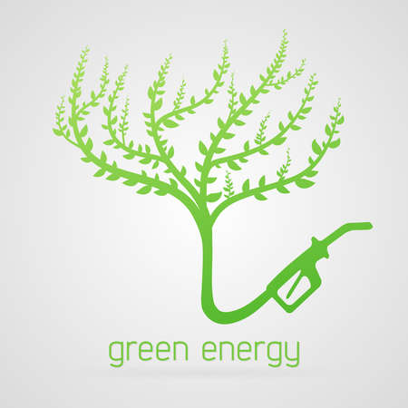 clean energy: Clean green energy concept, tree as gas station