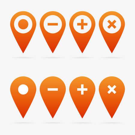 Orange clean vector web pointer symbol set