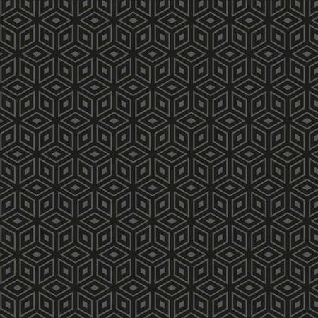 moder: Dark clean vector vintage geometric seamless background pattern