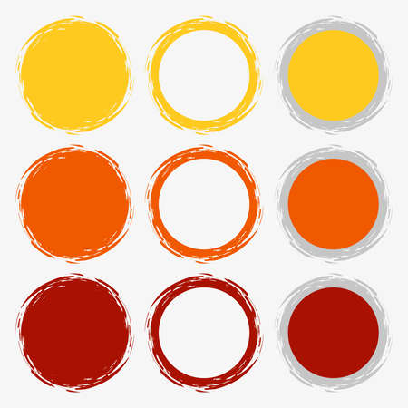 Clean vector warm color set of brush smudges Stock Vector - 24378355