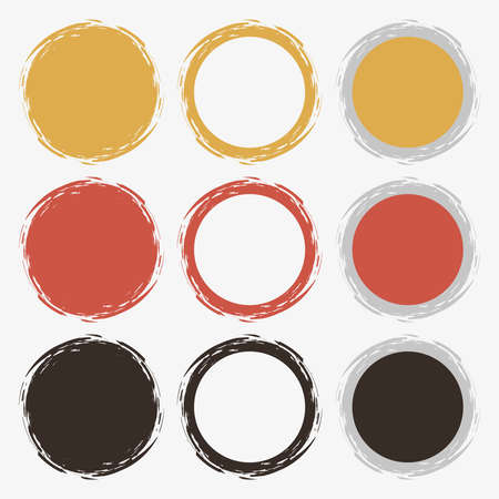 Clean retro color vector set of brush smudges Stock Vector - 24378353