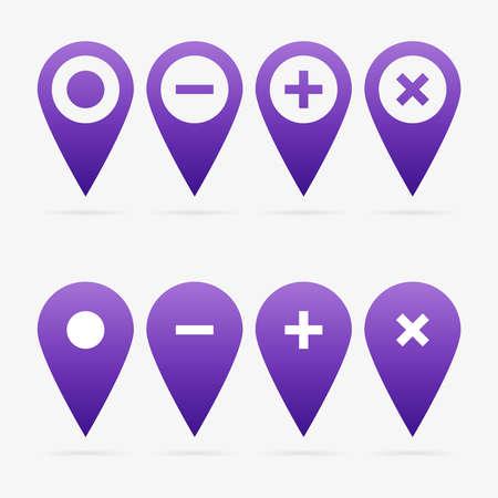 Violet clean vector web pointer symbol set Illustration