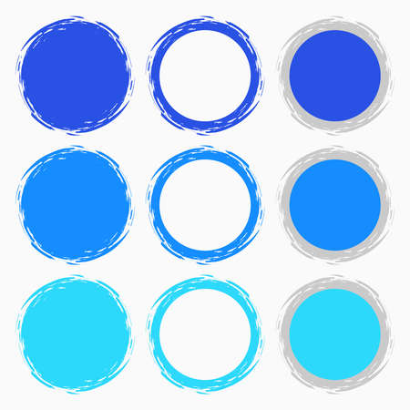 Clean vector blue color set of brush smudges Stock Vector - 24545131