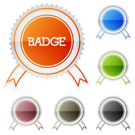 Set of clean vector vintage color blank isolated badges Stock Vector - 25426495