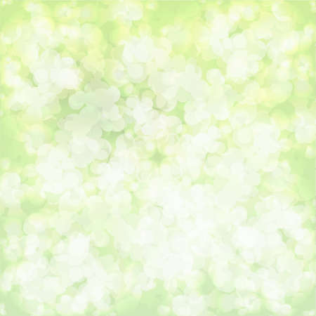 Clean vector light green color bokeh background