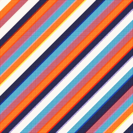 Clean vector retro color stripe background pattern on cloth texture Vector