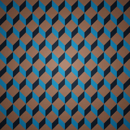 Dark clean vector color retro abstract isometric seamless background pattern Illustration