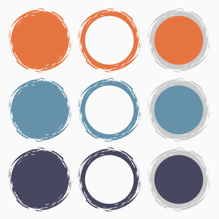 Clean vector retro pastel color set of brush smudges Stock Vector - 25427328