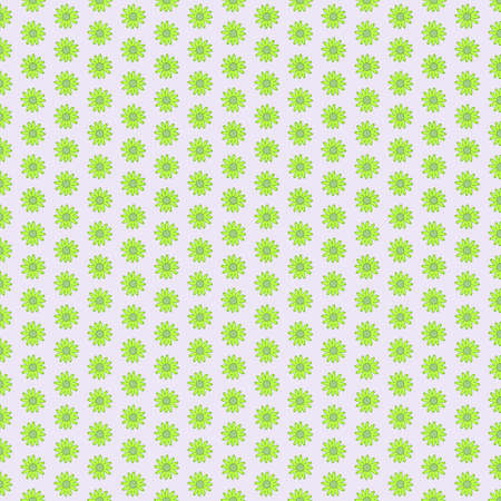 Green clean seamless flower background pattern Illustration