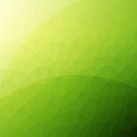 Green clean modern low poly background with reflections Illustration