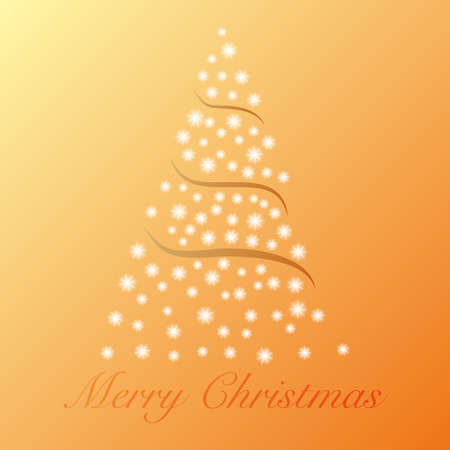 Gold modern Christmas background with tree and Merry Christmas text