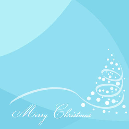 Blue modern background with Merry Christmas text