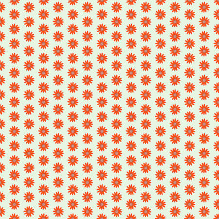 Red clean seamless flower background pattern