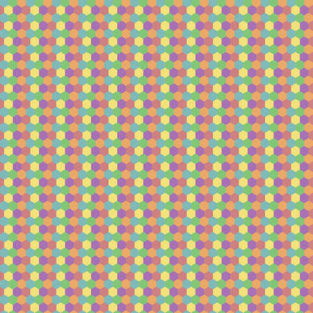 Retro pastel color clean seamless small hexagon background pattern
