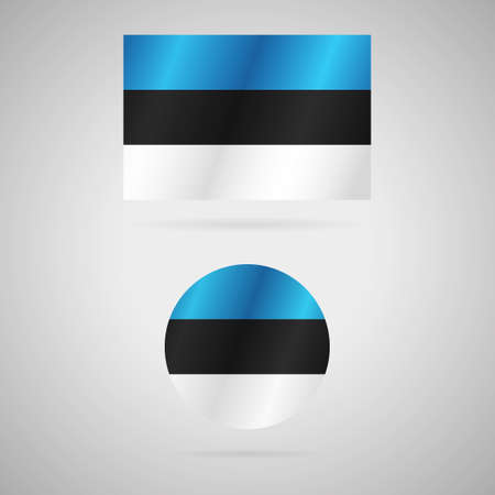 Clean vector modern rectangle and circle flag of Estonia