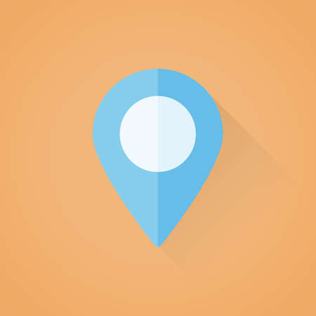 Detailed flat vector map pointer symbol icon